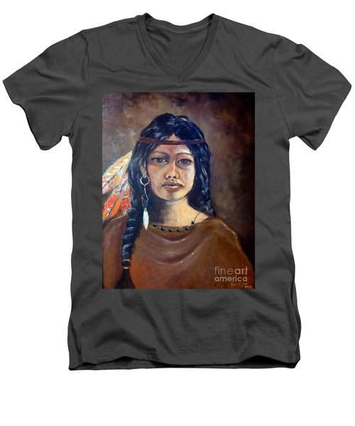 Anne Wolfe Men's V-Neck T-Shirt by Lee Piper