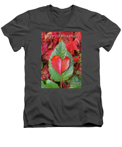 Anniversary Nature Greeting Card Men's V-Neck T-Shirt