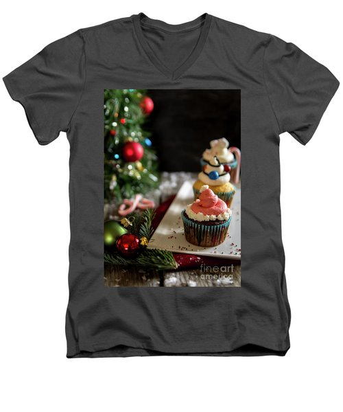 Men's V-Neck T-Shirt featuring the photograph Another Christmas To Remember by Deborah Klubertanz