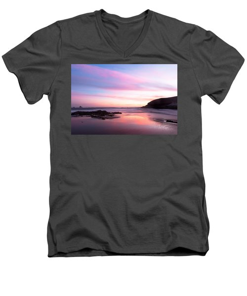 Men's V-Neck T-Shirt featuring the photograph Another Dawn by Catherine Lau