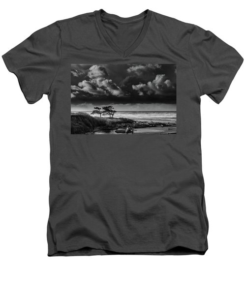 Another Day At Kalaloch Beach Men's V-Neck T-Shirt by Dan Mihai