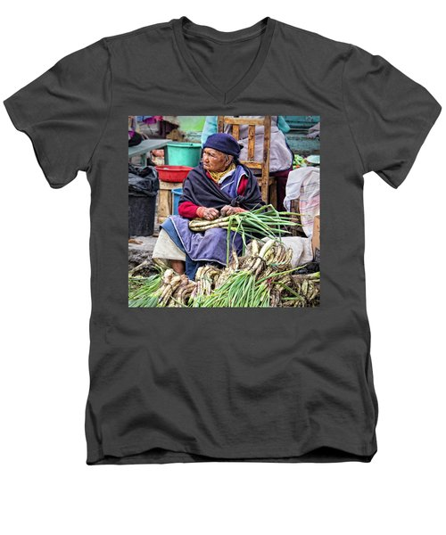 Another Day At The Market Men's V-Neck T-Shirt