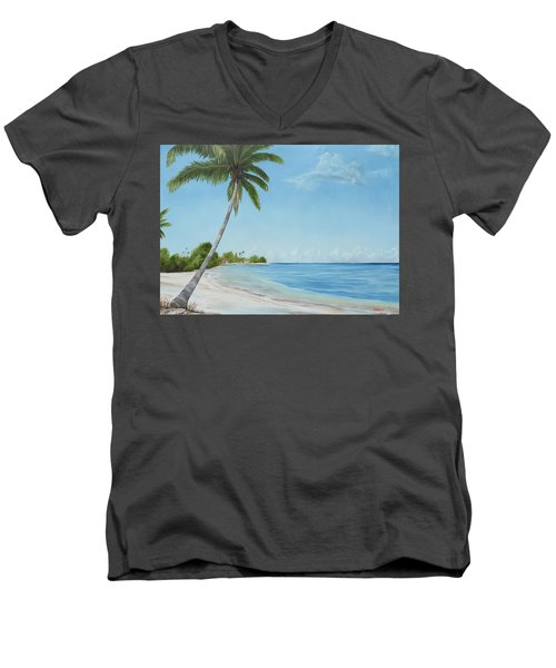 Another Day In Paradise Men's V-Neck T-Shirt by Lloyd Dobson