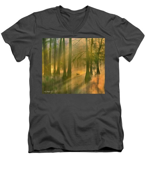 Another Day Men's V-Neck T-Shirt by Tim Fitzharris