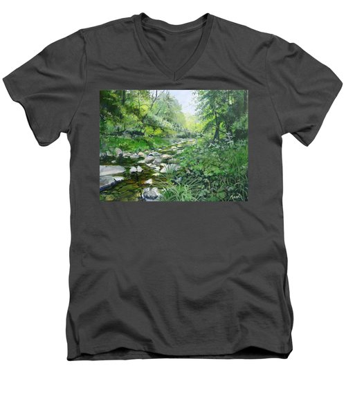 Another Look Men's V-Neck T-Shirt