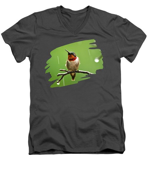 Another Rainy Day Hummingbird Men's V-Neck T-Shirt by Christina Rollo