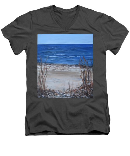 Another View Of East Point Beach Men's V-Neck T-Shirt