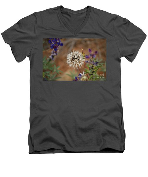Another White Flower Men's V-Neck T-Shirt