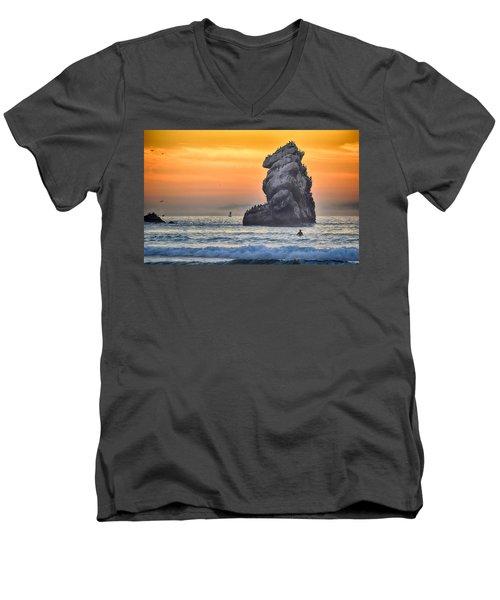 Another World Men's V-Neck T-Shirt by AJ Schibig