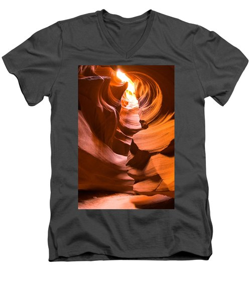 Men's V-Neck T-Shirt featuring the photograph Antelope Canyon by Harry Spitz