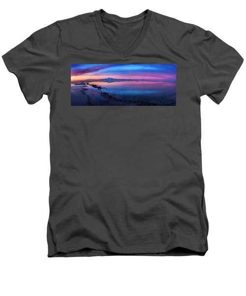 Antelope Island Sunrise Men's V-Neck T-Shirt