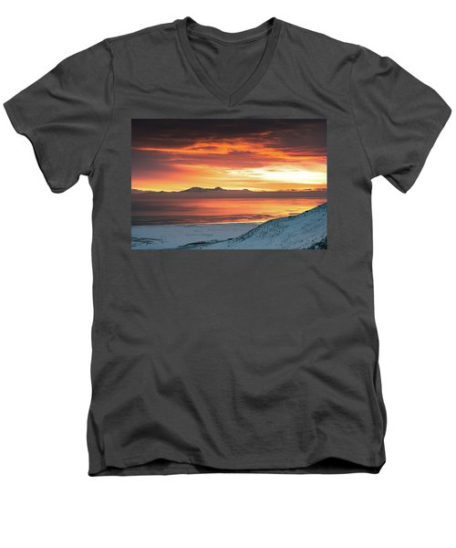 Antelope Island Sunset Men's V-Neck T-Shirt