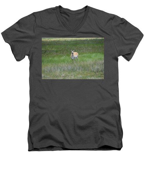 Prong Horned Antelope Lake John Swa Co Men's V-Neck T-Shirt