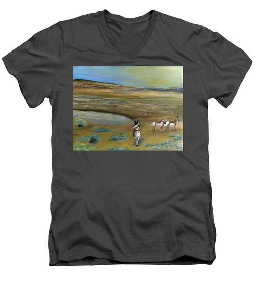 Antelopes Men's V-Neck T-Shirt