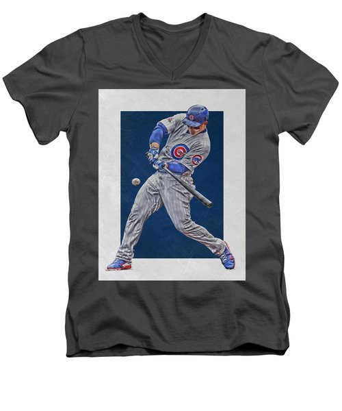 Anthony Rizzo Chicago Cubs Art 1 Men's V-Neck T-Shirt
