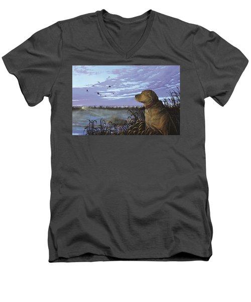 On Watch - Yellow Lab Men's V-Neck T-Shirt