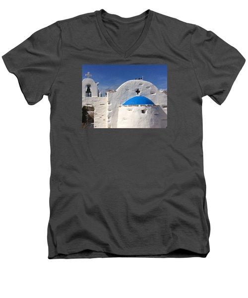 Antiparos Island Greece  Men's V-Neck T-Shirt