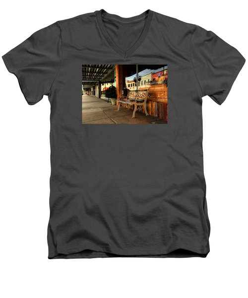 Antique Bench Men's V-Neck T-Shirt