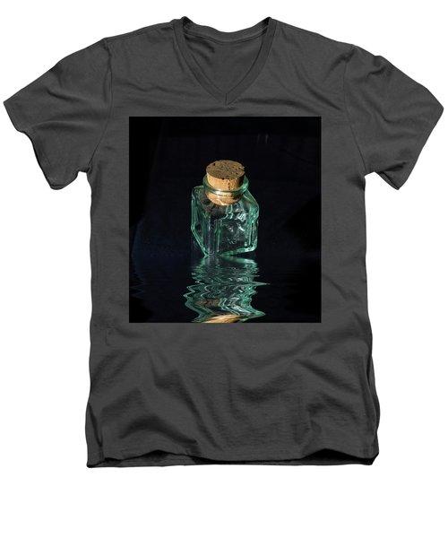 Antique Glass Bottle Men's V-Neck T-Shirt by David French