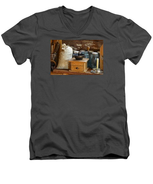Antique Grinder Men's V-Neck T-Shirt