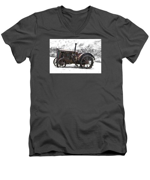 Antique Iron Horse Men's V-Neck T-Shirt by Kathy M Krause