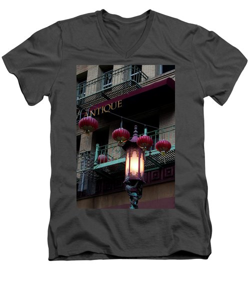 Antique Peking Men's V-Neck T-Shirt