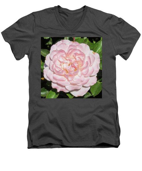 Antique Pink Rose Men's V-Neck T-Shirt