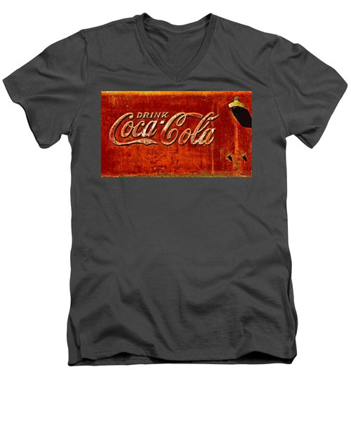 Antique Soda Cooler 3 Men's V-Neck T-Shirt