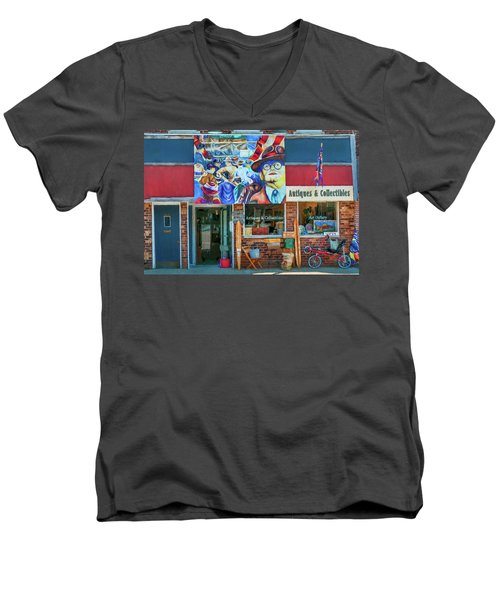 Antiques And Collectibles Men's V-Neck T-Shirt by Trey Foerster