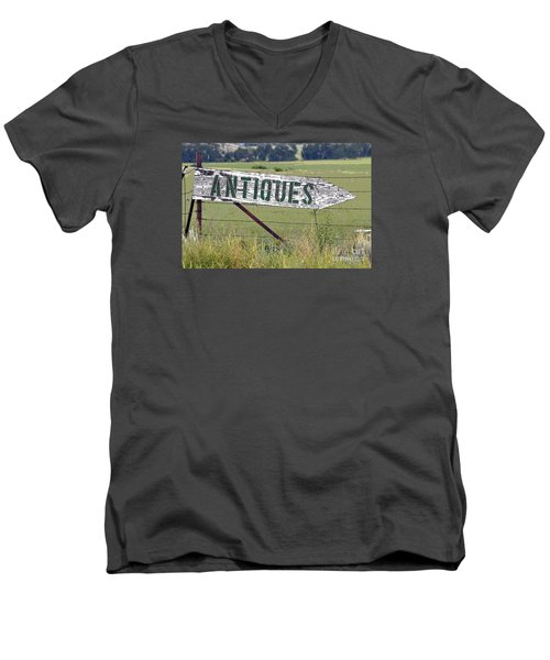 Men's V-Neck T-Shirt featuring the photograph Antiques  by Juls Adams