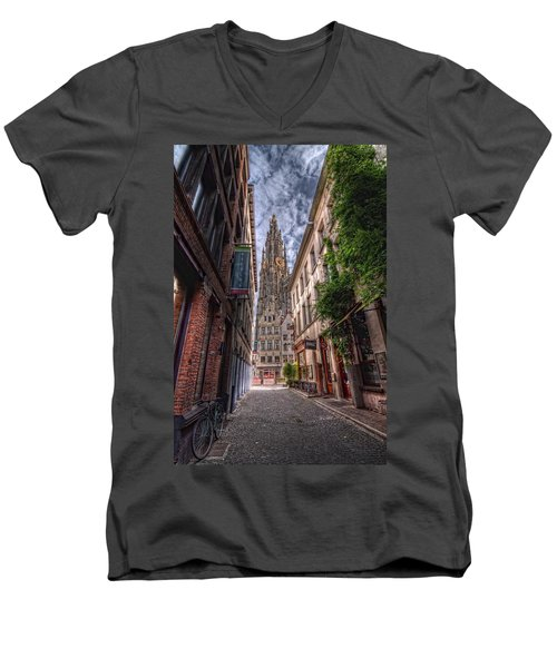 Antwerp Cathedral Men's V-Neck T-Shirt