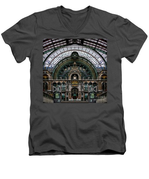 Antwerp Train Terminal Men's V-Neck T-Shirt