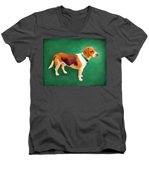 Apache Green Men's V-Neck T-Shirt