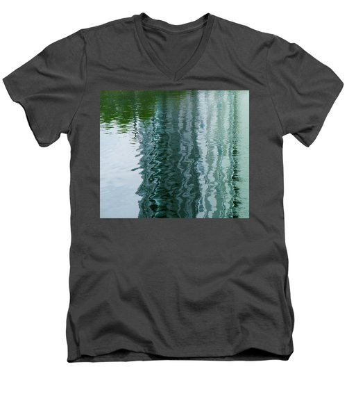 Apartment Building Reflection, Confluence Park, Denver, Colorado Men's V-Neck T-Shirt