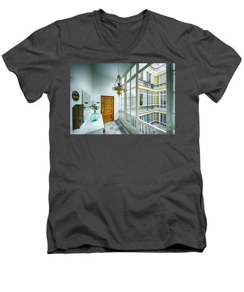 Men's V-Neck T-Shirt featuring the photograph Apartment In The Heart Of Cadiz 17th Century Cadiz by Pablo Avanzini