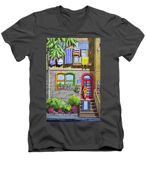 Apartment With Red Door Men's V-Neck T-Shirt