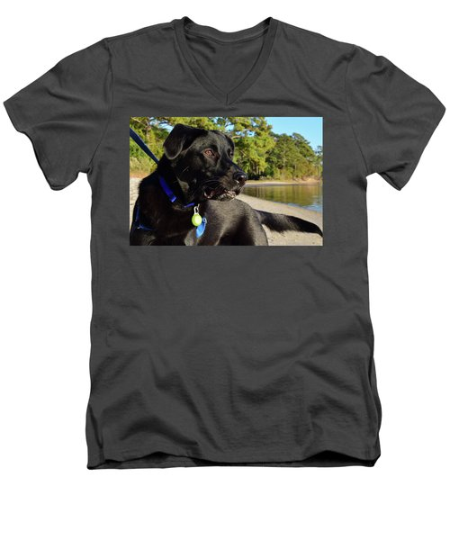 Apollo On The Beach Men's V-Neck T-Shirt