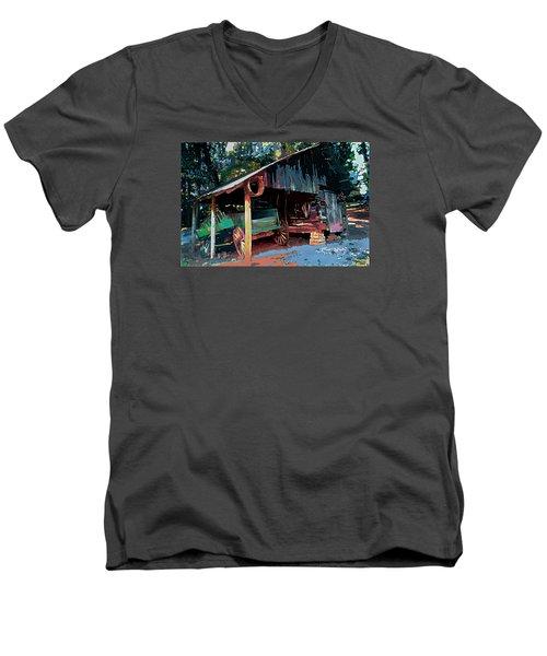 Appalachia Wagon Waiting For Repair  Men's V-Neck T-Shirt