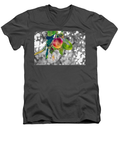 Apple And The Diamond Men's V-Neck T-Shirt