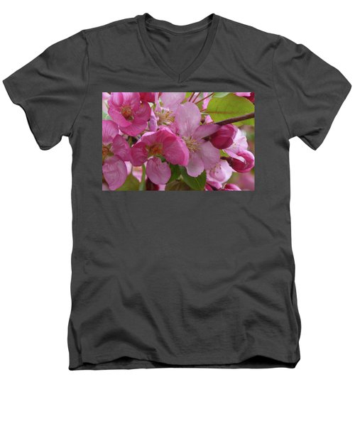 Apple Blossoms Men's V-Neck T-Shirt