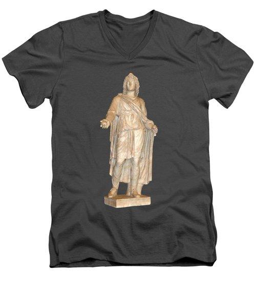 Apple In Hand Men's V-Neck T-Shirt