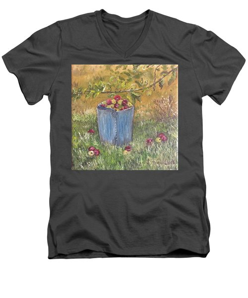 Apple Pickin'  Men's V-Neck T-Shirt