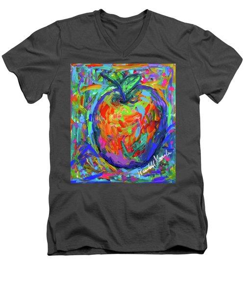 Apple Splash Men's V-Neck T-Shirt