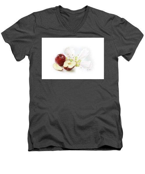 Apples And Blossom Men's V-Neck T-Shirt