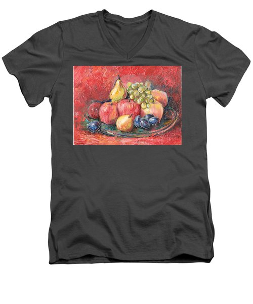 Apples  Men's V-Neck T-Shirt