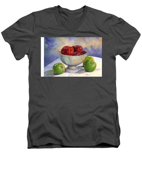 Apples - Yum Men's V-Neck T-Shirt