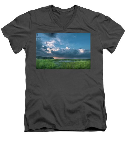 Men's V-Neck T-Shirt featuring the photograph Approaching Storm by Phyllis Peterson