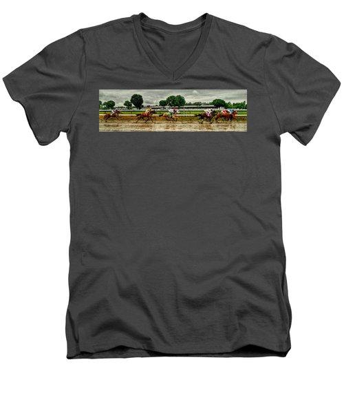 Approaching The Far Turn Men's V-Neck T-Shirt