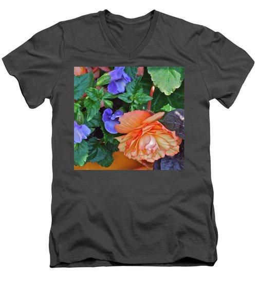 Apricot Begonia 1 Men's V-Neck T-Shirt