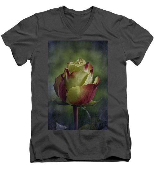 April 2017 Rose - Inspired By Emerson Men's V-Neck T-Shirt by Richard Cummings